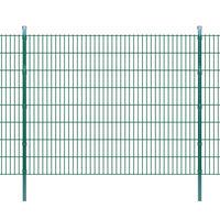 vidaXL 2D Panele i słupki ogrodzeniowe 2008x1630 mm 30 m zielone