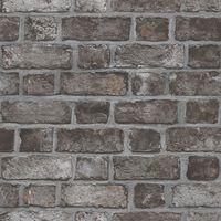 Homestyle Tapeta Brick Wall, czarno-szara