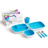 Munchkin 7-cz. zestaw naczyń dla dzieci Color Me Hungry, niebieski