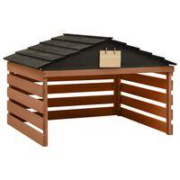 vidaXL Garaż dla kosiarki robotycznej, czarno-brązowy, 78x74x54 cm