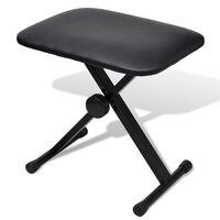 vidaXL Składany, regulowany stołek do pianina i keyboardu