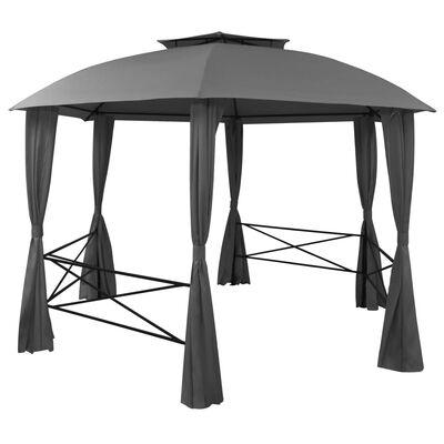 vidaXL Namiot ogrodowy z zasłonami, sześciokątny, 360x265 cm