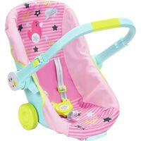 Zapf Creation Fotelik podróżny dla lalek Baby Born, różowo-niebieski