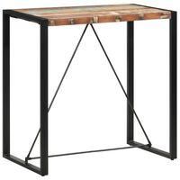 vidaXL Stolik barowy, 110x60x110 cm, lite drewno z odzysku