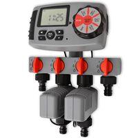 vidaXL Automatyczny sterownik nawadniania, 4 stacje, 3V