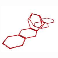 Pure2Improve Drabinka koordynacyjna, 6 sześciokątów, czerwona