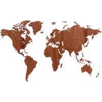 MiMi Innovations Drewniana mapa świata Exclusive, sapele, 130x78 cm