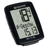 Sigma Licznik rowerowy BC 7.16, czarny, 7160