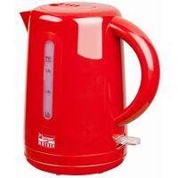 Bestron Bezprzewodowy czajnik elektryczny 1,7 L, Hot Red, 2200 W