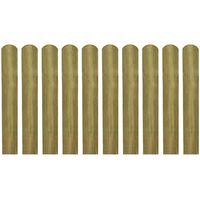 vidaXL 30 impregnowanych sztachet,drewno, 60 cm