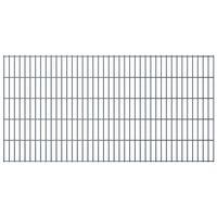 vidaXL Panele ogrodzeniowe 2D, 2,008 x 1,03 m, 02 m, szare