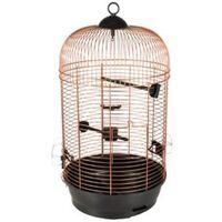FLAMINGO Klatka dla ptaków Sanna 2, kolor miedzi, 34x34x67 cm