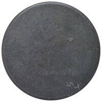vidaXL Blat do stołu, czarny, Ø70 x 2,5 cm, marmur