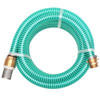 vidaXL Wąż ssący z mosiężnymi złączkami, 7 m, 25 mm, zielony