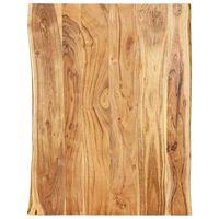 vidaXL Blat, lite drewno akacjowe, 80x(50-60)x3,8 cm