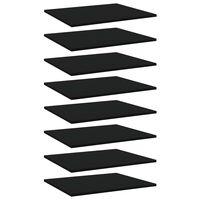 vidaXL Półki na książki, 8 szt., czarne, 60x50x1,5 cm, płyta wiórowa