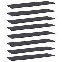 vidaXL Półki na książki, 8 szt., szare, 100x30x1,5 cm, płyta wiórowa
