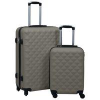 vidaXL Zestaw twardych walizek na kółkach, 2 szt., antracytowy, ABS