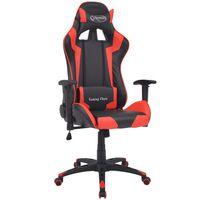 vidaXL Rozkładane krzesło biurowe, sportowe, sztuczna skóra, czerwone