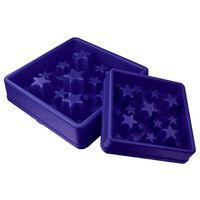 EAT SLOW LE LONGER Miska spowalniająca jedzenie Star, niebieska, L