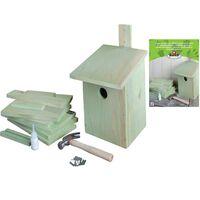 Esschert Design DIY Domek dla ptaszków, 21,3x17x23,3 cm, KG52