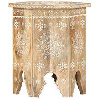 vidaXL Ręcznie malowany stolik, 38x33x42 cm, lite drewno mango