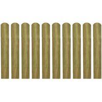 vidaXL 20 impregnowanych sztachet, drewno, 60 cm