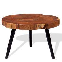 vidaXL Stolik kawowy plaster, (55-60) x 40 cm, lite drewno akacjowe