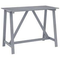 vidaXL Ogrodowy stolik barowy, szary, 140x70x104 cm, drewno akacjowe
