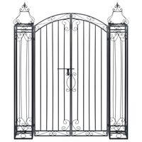 vidaXL Ozdobna brama ogrodowa z kutego żelaza, 122 x 20,5 x 160 cm