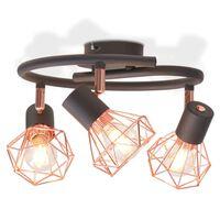 vidaXL Lampa sufitowa z 3 żarówkami z diodami LED, 12 W
