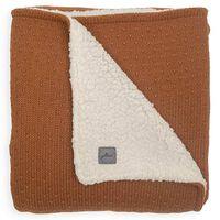 Jollein Kocyk dziecięcy Bliss Knit, 75x100cm, tkanina typu miś, karmel