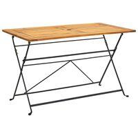vidaXL Składany stół ogrodowy, 120x70x74 cm, lite drewno akacjowe