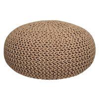 LABEL51 Puf wydziergany z bawełny, L, beżowy