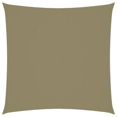 vidaXL Żagiel ogrodowy, tkanina Oxford, kwadrat, 2,5x2,5 m, beżowy
