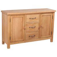 vidaXL Komoda z 3 szufladami, 110 x 33,5 x 70 cm, lite drewno dębowe