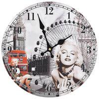 vidaXL Zegar ścienny w stylu vintage Marilyn Monroe, 30 cm