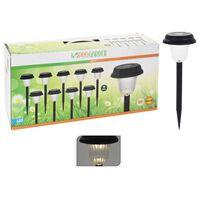 ProGarden Solarne lampki ogrodowe LED, 9 szt., czarne