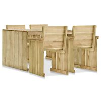 vidaXL 5-cz. zestaw mebli ogrodowych, impregnowane drewno sosnowe