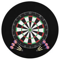 vidaXL Profesjonalna, sizalowa tarcza do darta z 6 rzutkami i osłoną