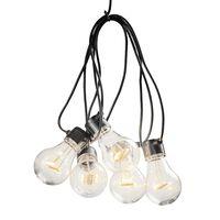 KONSTSMIDE Oświetlenie z 5 przezroczystymi lampkami, bardzo ciepłe