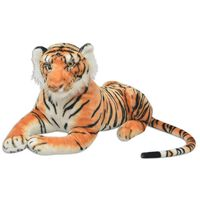 vidaXL Zabawka tygrys pluszowy, brązowy, XXL