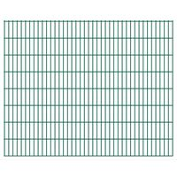 vidaXL Panele ogrodzeniowe 2D, 2,008 x 1,63 m, 16 m, zielone