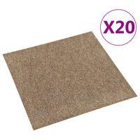 vidaXL Podłogowe płytki dywanowe, 20 szt., 5 m², beżowe