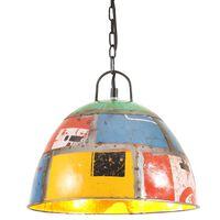 vidaXL Industrialna lampa wisząca, 25 W, kolorowa, okrągła, 31 cm, E27