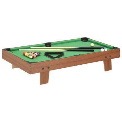 vidaXL Mini stół bilardowy na 3 nogach, 92x52x19 cm, brązowo-zielony