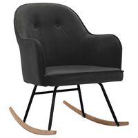 vidaXL Fotel bujany, ciemnoszary, tapicerowany aksamitem