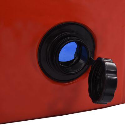 vidaXL Składany basen dla psa, czerwony, 120 x 30 cm, PVC