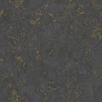 DUTCH WALLCOVERINGS Tapeta marmurkowa, czarno-złota
