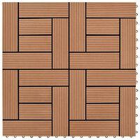 vidaXL Płytki tarasowe, 22 szt., 30 x 30 cm, 2 m², WPC, brązowe